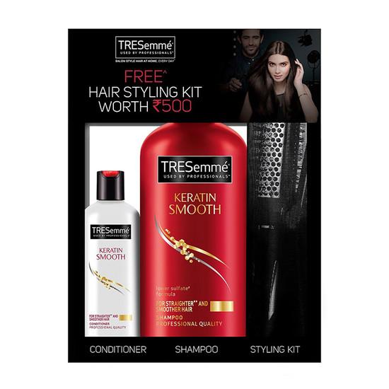 how to use tresemme keratin smooth shampoo
