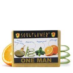 Soulflower Soap One Man Soap (150 g)