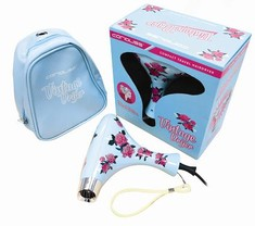 Corioliss Vintage Blue Floral Hair Dryer
