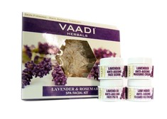 Vaadi Herbals Lavender Anti-Ageing Spa Facial Kit With Rosemary Extract (70 g)