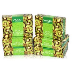 Vaadi Herbals  Exotic Kiwi Soap With Green Apple Extract Super Value Pack Of 6 (5 + 1 Free) (75 g X 6)