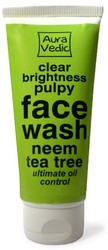 Auravedic Clear Brightness Pulpy Face Wash With Neem Tea Tree (80g)