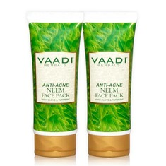 Vaadi Herbals Anti Acne Neem Face Pack With Clove & Turmeric Value Pack Of 2 (120 G X 2)