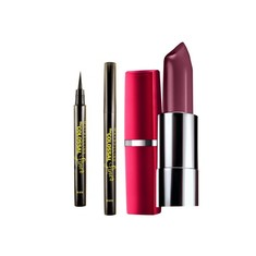 Maybelline The Colossal Liner (1.2 g) + FREE Maybelline Color Sensational Lip Color Forever Plum 119 (4 g)