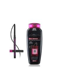 L'Oreal Paris Fall Repair 3X Anti-Hair Fall Shampoo (640 Ml) + FREE L'Oreal Paris Kajal Magique Supreme Black