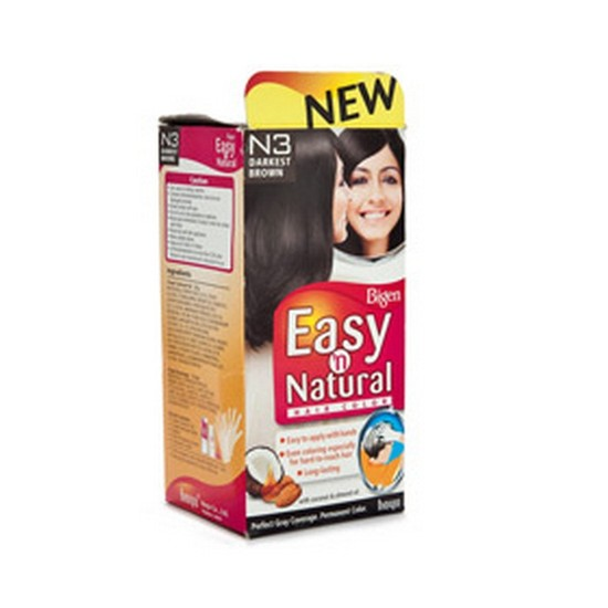 (Buy 1 Get 1 Free)Darkest Brown N3-Bigen Women Easy N Natural Hair Colour Kit
