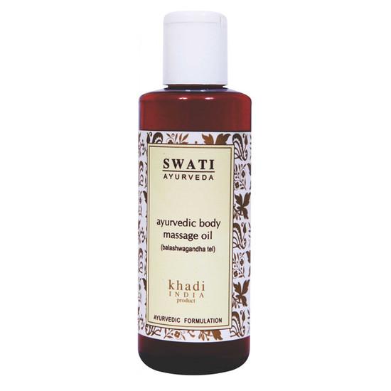 Khadi Balashwagandha Tel Ayurvedic Body Massage Oil (210 Ml) By Swati Gramodyog