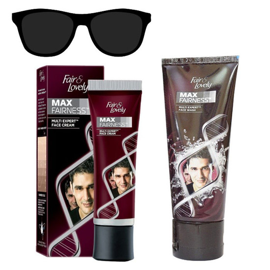 Fair & Lovely Max Fairness Multi Expert Face Cream (50 G) + Fair & Lovely Max Fairness Face Wash (50 G) + FREE Sunglass